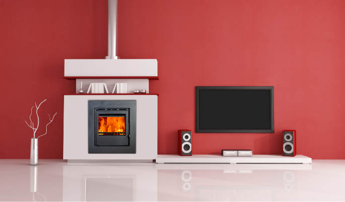 A picture of boru stove 500i in setting