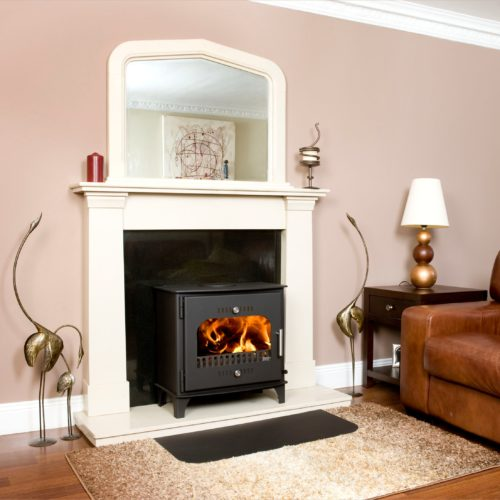 An image of carraig beag free standing stove in 3D setting