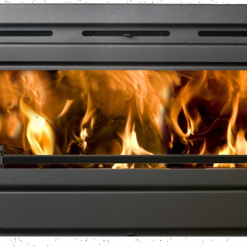 An image of Boru 900i insert stove double sided
