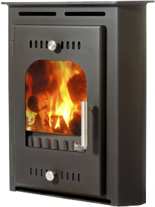 side image of croi beag dry insert stove
